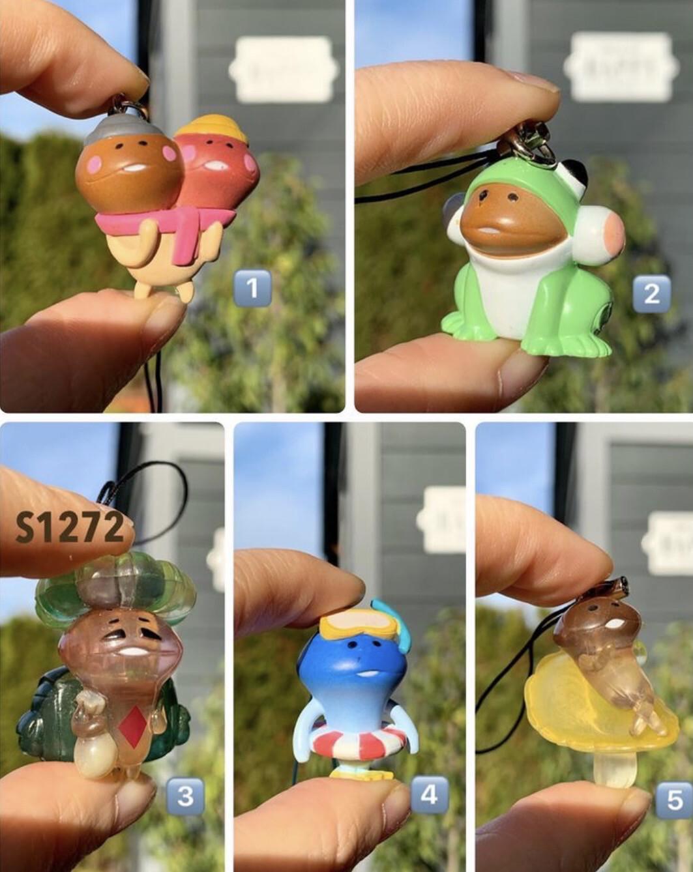 Nameko Touch Detective Mushroom Mascot Strap