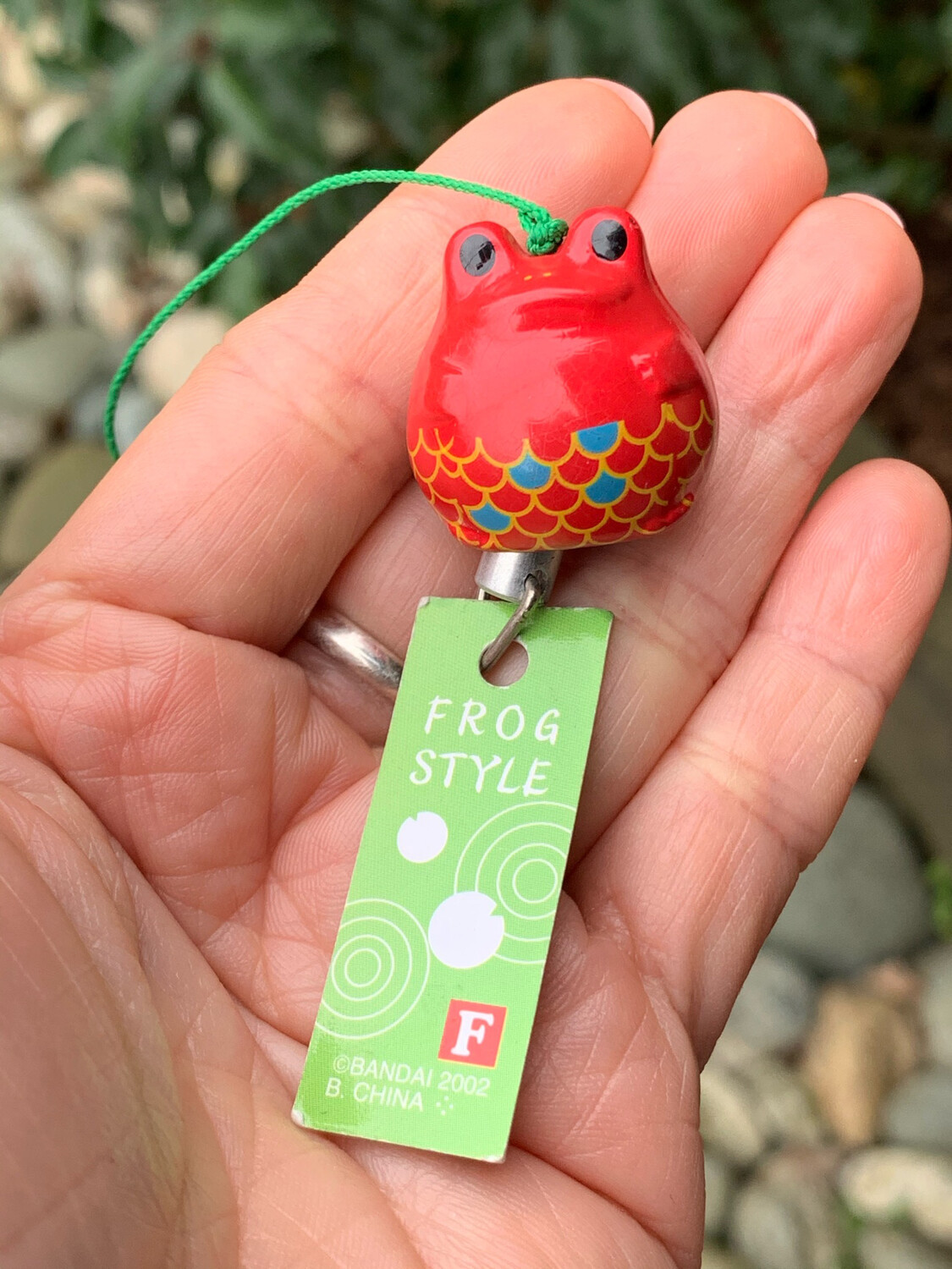 Gold Fish Frog Style Mini Wind Chime Strap