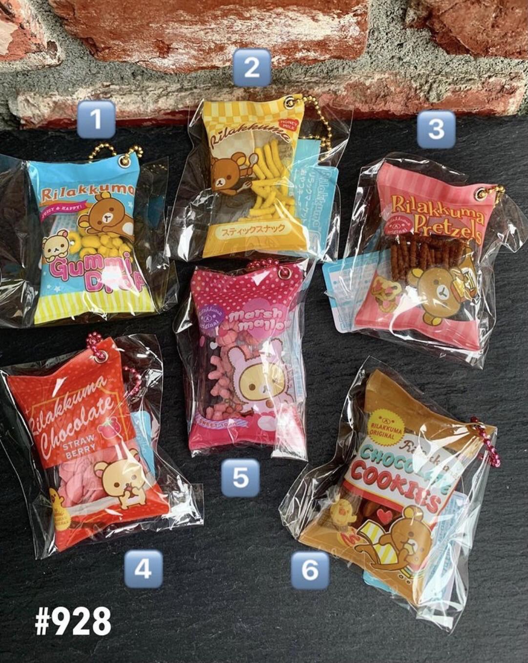 San-X Rilakkuma Relax Bear Snack Shaka Keychain
