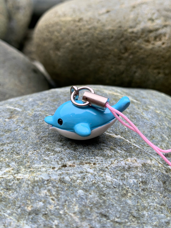 Blue Dolphin Charm Mascot Strap