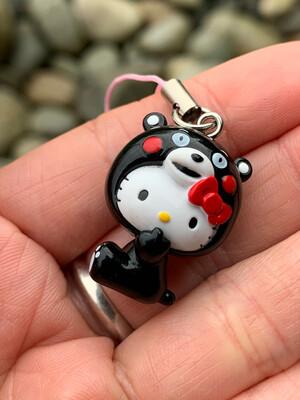 Hello Kitty Kumamoto Kuma Bear Charm Strap