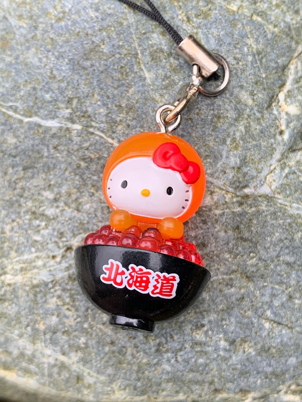 Hello Kitty Hokkaido Fish Roe Donburi Charm Strap