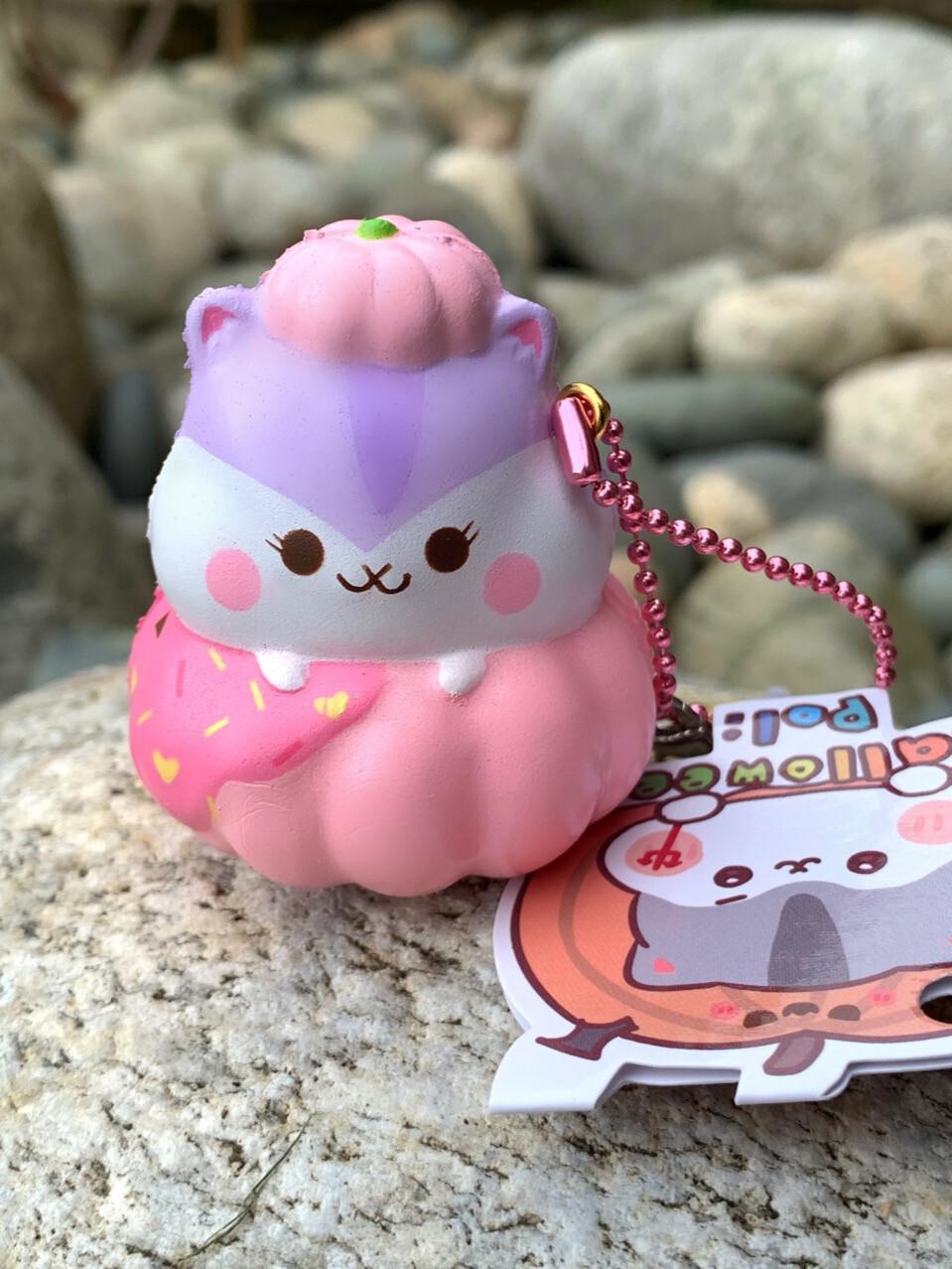 Poli Hamster Strawberry Pumpkin Squishy Toy