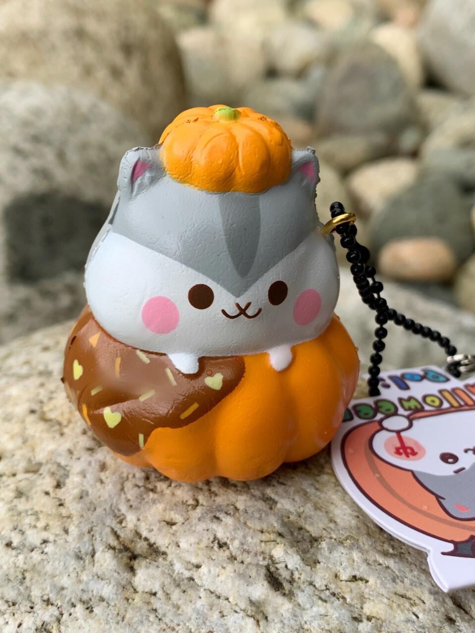 Poli Hamster Chocolate Pumpkin Squishy Toy