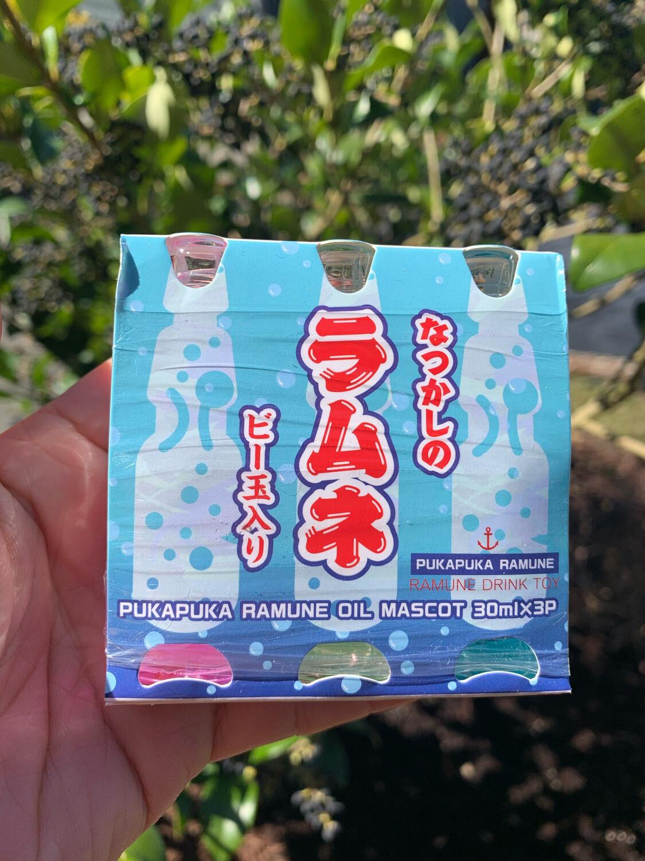 Pukapuka Ramune Oil Mascot Keychain Set of 3