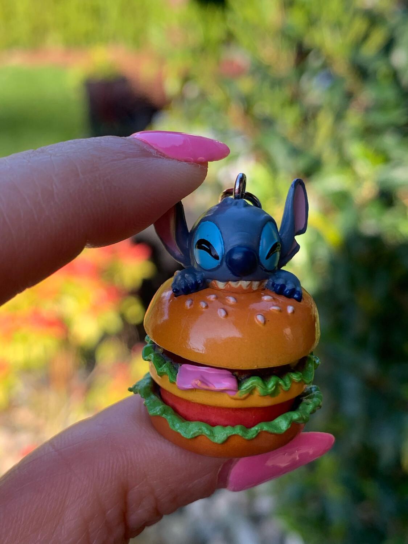 Disney Stitch Hamburger Charm Strap