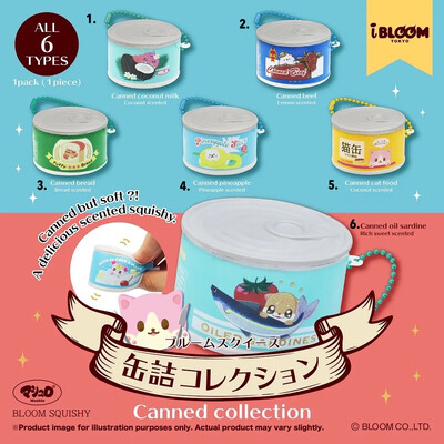 iBloom Canned Food Character Collection Squishy Toy
