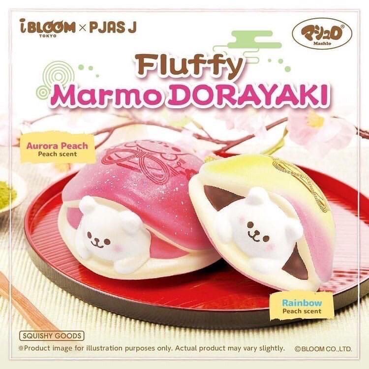 [Pre-order] iBoom X Pjas Fluffy Marmo Dorayaki Squishy Limited Edition
