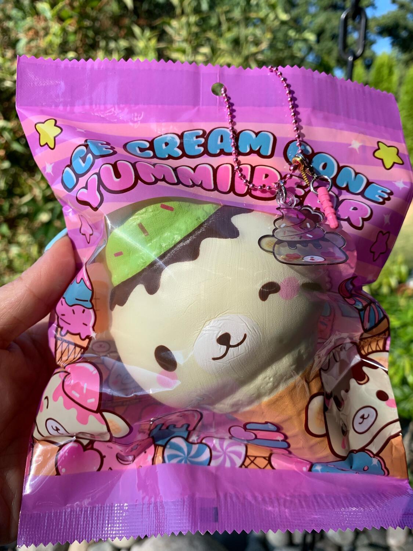 Yummiibear Ice Cream Cone Squishy Toy - Chocolate Mint