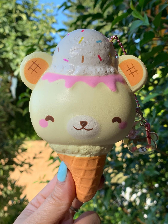 Yummibear Ice Cream Cone Squishy Toy - Strawberry