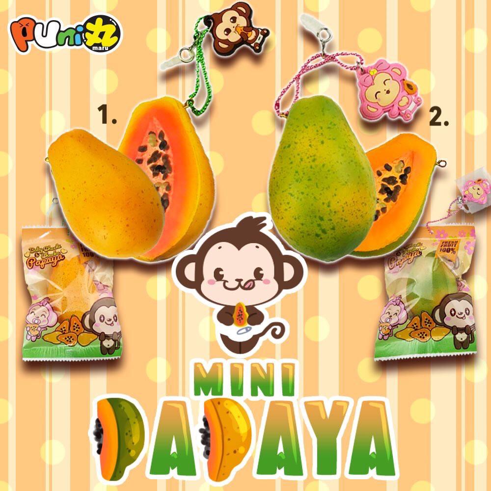 Puni Maru Cheeki Cheeka Mini Papaya Squishy