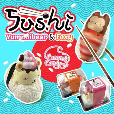 Creamiicandy Yummiibear Jumbo Sushi Squishy