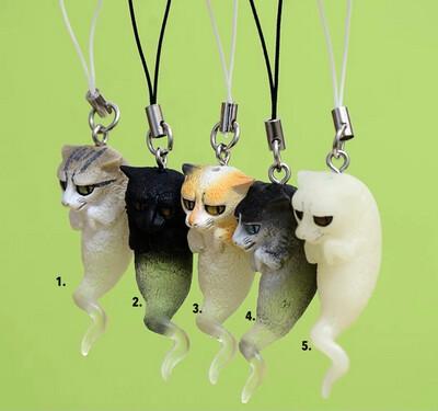 [NEW] Ghosty Neko Cat Spirit Charm Keychain