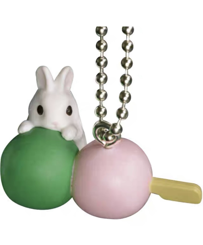 Epoch Rabbit Dango Miniature Keychan Gashapon