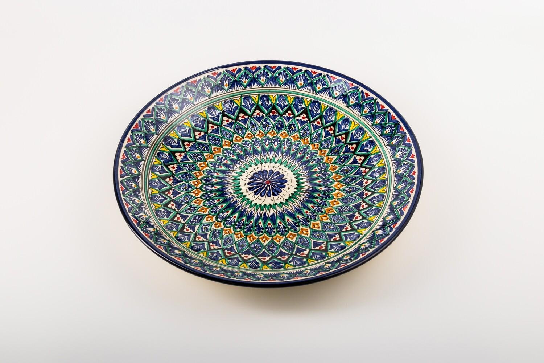 "16.5"" Handmade Decorative Ceramic serving Uzbek Plates"