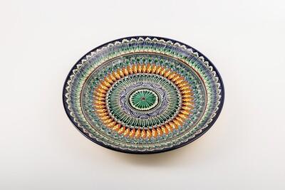 "12.6"" Handmade Decorative Ceramic serving Uzbek Plates"