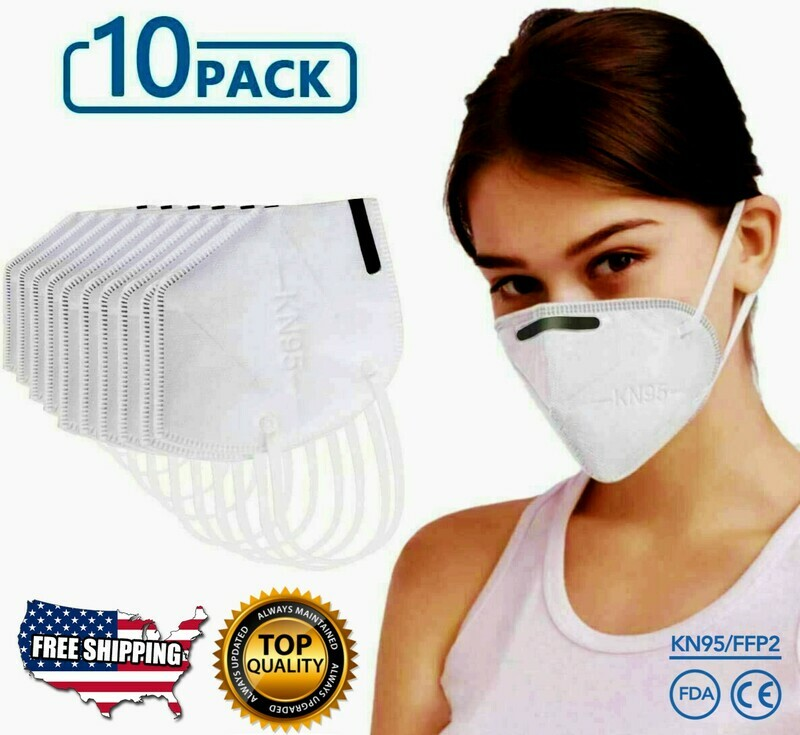 KN95 10 Pc Protective Face Mask Respirator