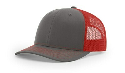 112 Split Color - Charcoal/Red