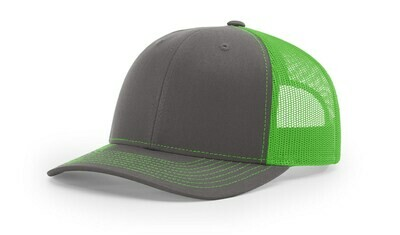 112 Split Color - Charcoal/Neon Green