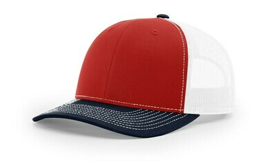 112 Tri-Colors - Red/White/Navy