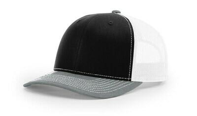 112 Tri-Colors - Black/White/Heather Grey