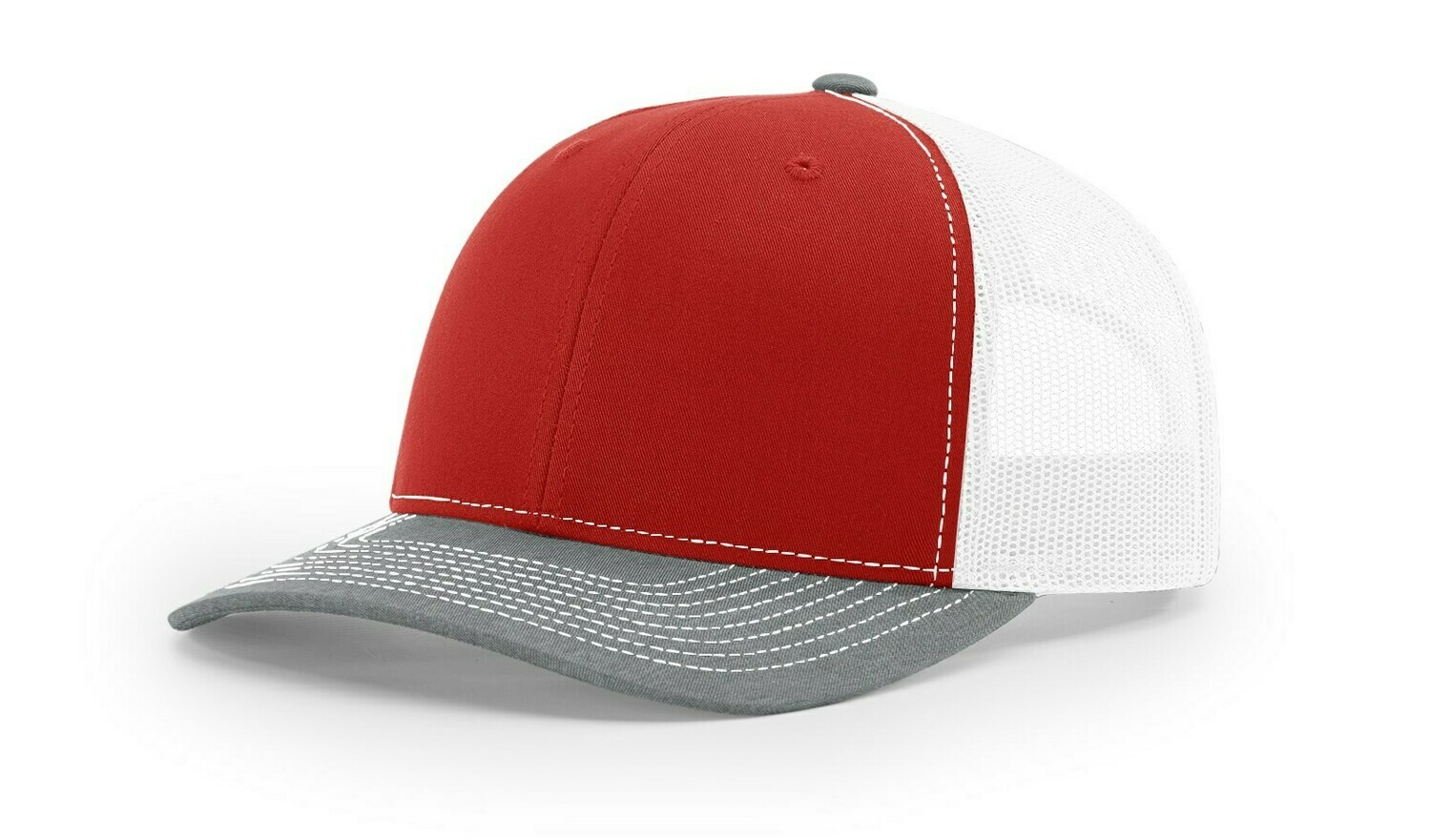 112 Tri-Colors - Red/White/Heather Grey