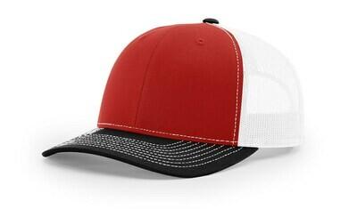 112 Tri-Colors - Red/White/Black
