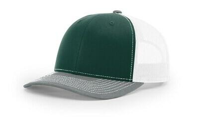 112 Tri-Colors - Dark Green/White/Heather Grey