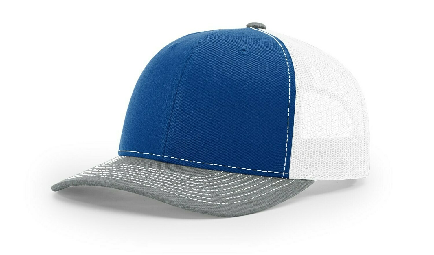 112 Tri-Colors - Royal/White/Heather Grey