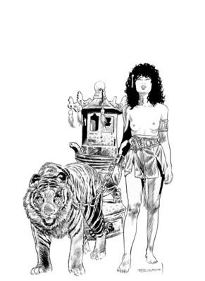 Couverture de l'album en version noir et Blanc