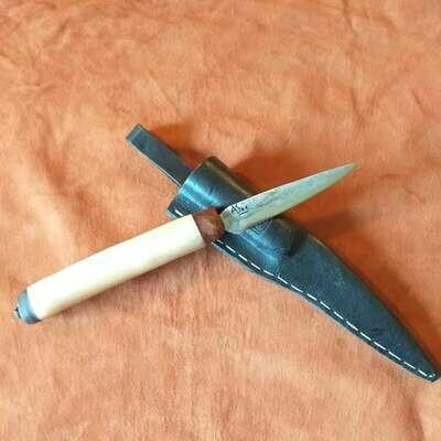 Наружный нож из вольфрамовой стали с ручкой из верблюжьей кости и верблюжьей подошвой с корнем туи