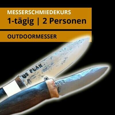 1 дневной курс по изготовлению ножей на 2 человека для одного ножа на открытом воздухе каждый