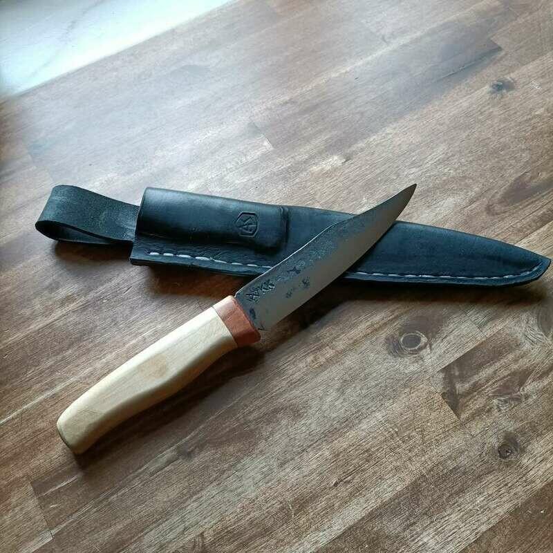 Outdoormesser mit Klinge aus Kettenbolzen NSU-Kettenkrad.