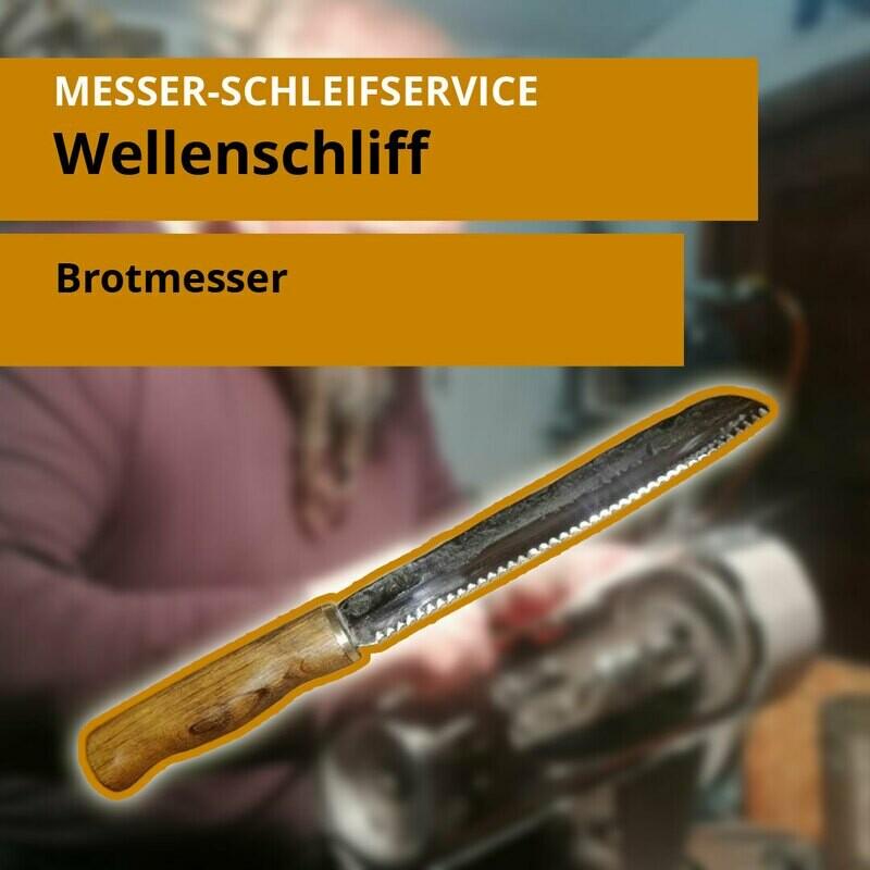 Wellenschliff für Brotmesser und alle andere Arten. Bis zu 10 Messer