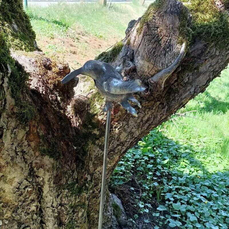 Geschmiedeter Kolibri aus Eisen. Unbehandelt
