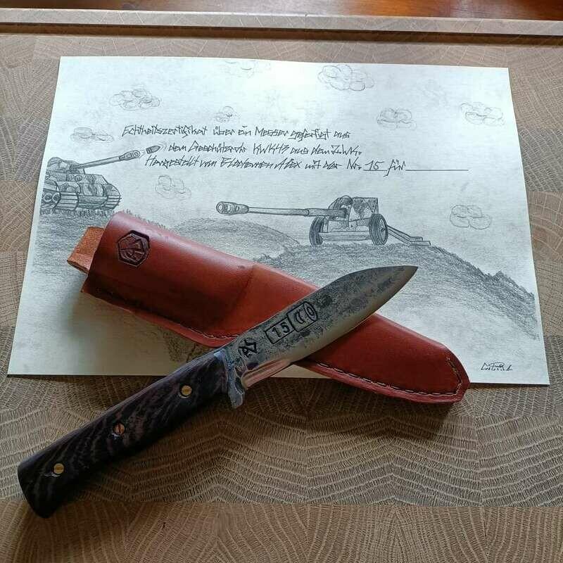 Messer aus den Geschützrohr KWK43 aus dem 2 Weltkrieg. NR.15