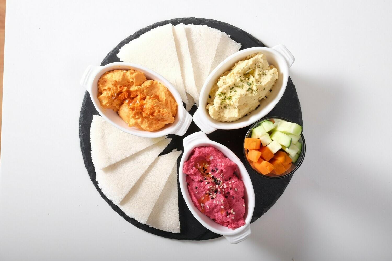 Trio de Hummus Artesanos