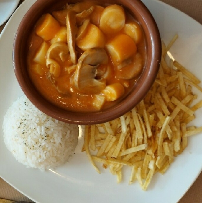 Strogonoff de Palmito (vegetariano)