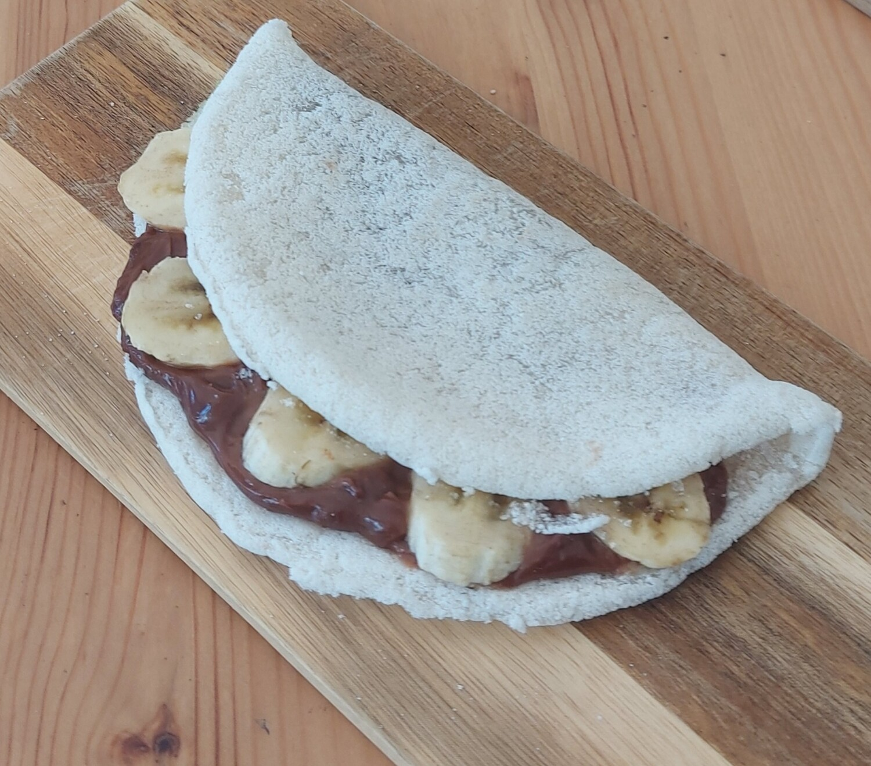 Tapioca de Plátano y Crema de Avellanas