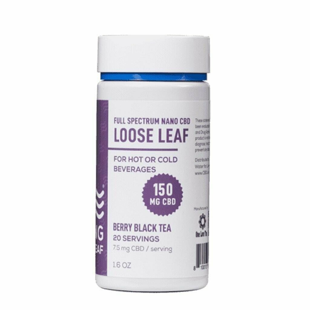 CBD living loose leaf tea berry black