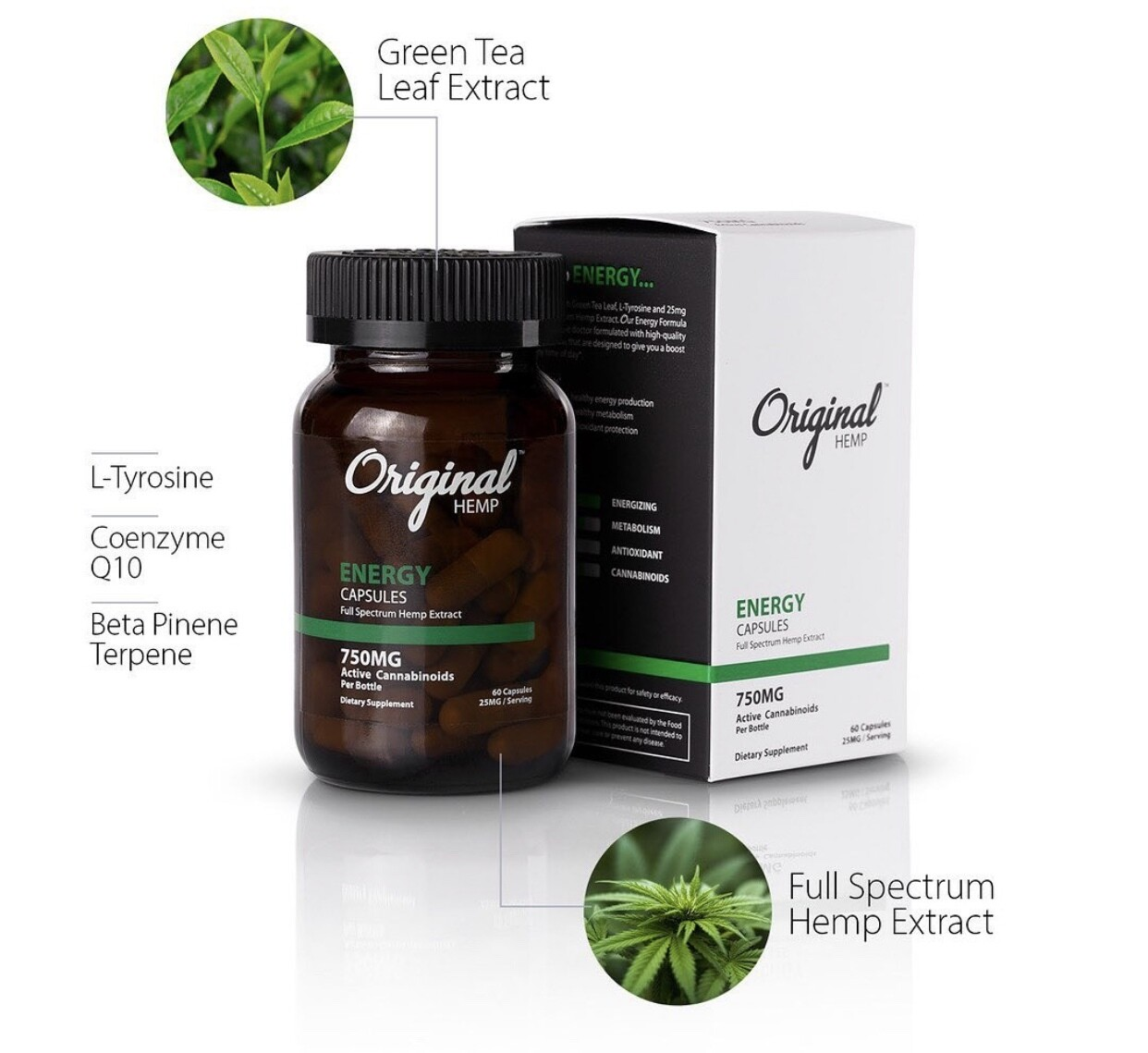Original hemp capsules energy