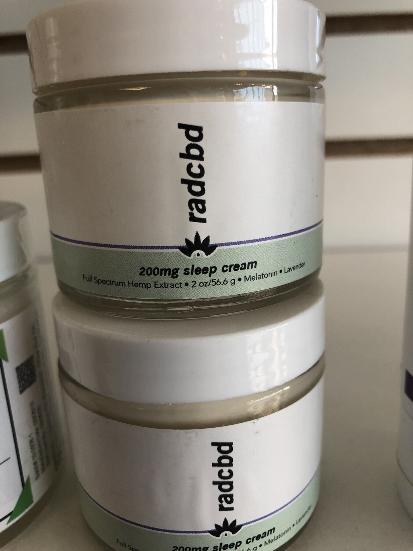 RADCBD cream sleep