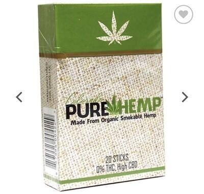 Pure Hemp Hempettes Cigs 20pk