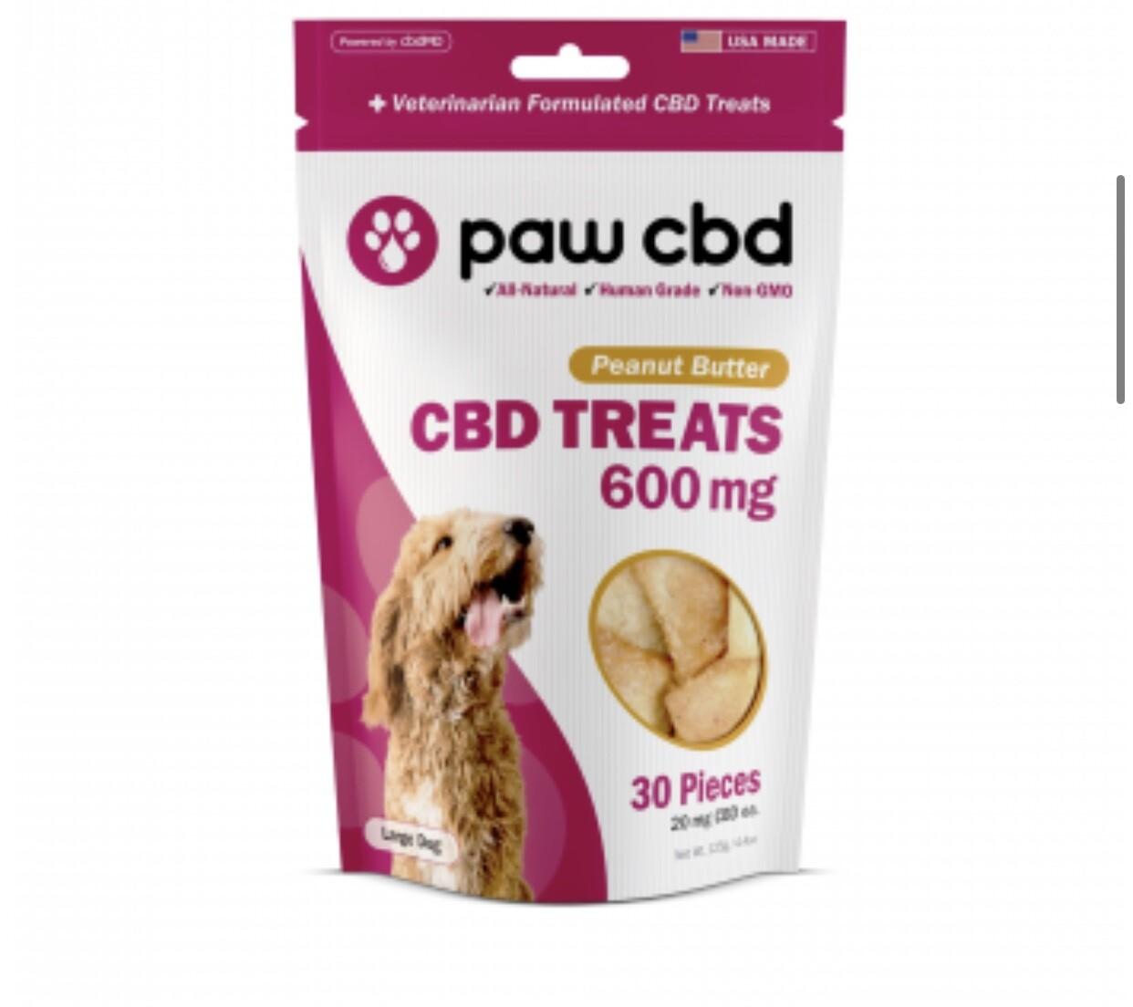 Paw CBD 600mg Dog Treats