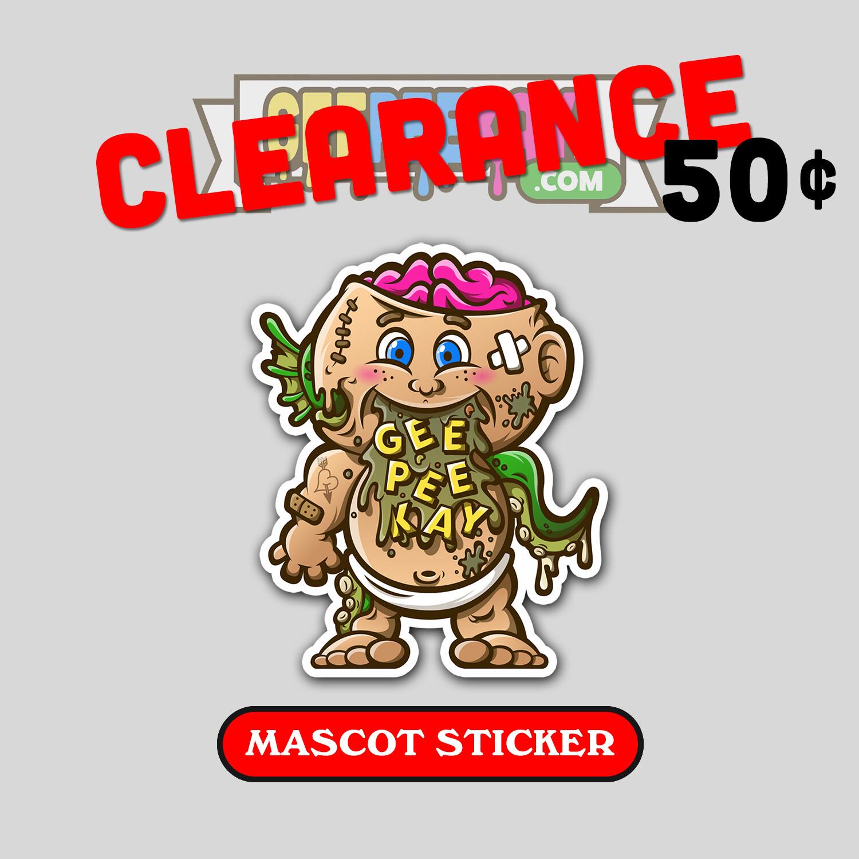 GeePeeKay Mascot Sticker (50% OFF)