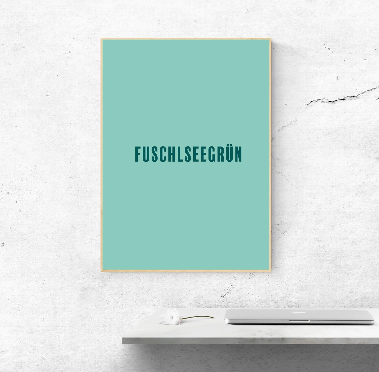 """Poster """"Fuschlseegrün"""""""
