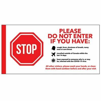 Door Sign -Symptom Checklist