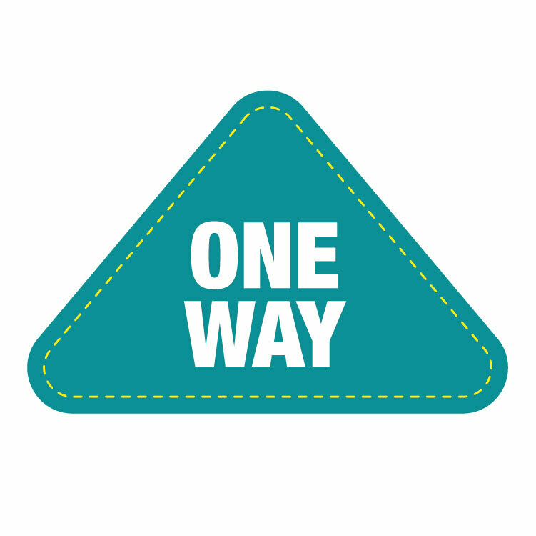 Traffic Flow Arrow Floor Decal -'One Way' teal