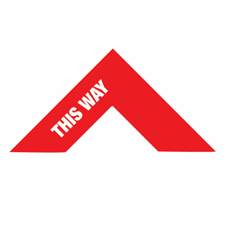 Traffic Flow Arrow Floor Decal -'This Way' red