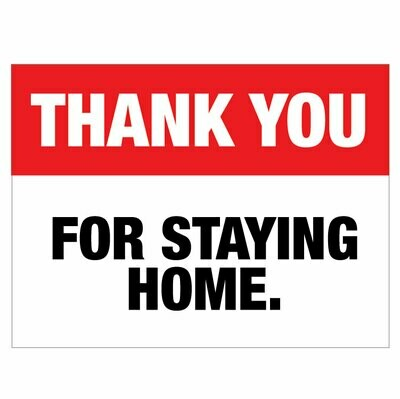 Thank You For Staying Home -red/black